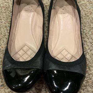 Vince Camuto Ballet Flat with Patent Toe sz 10